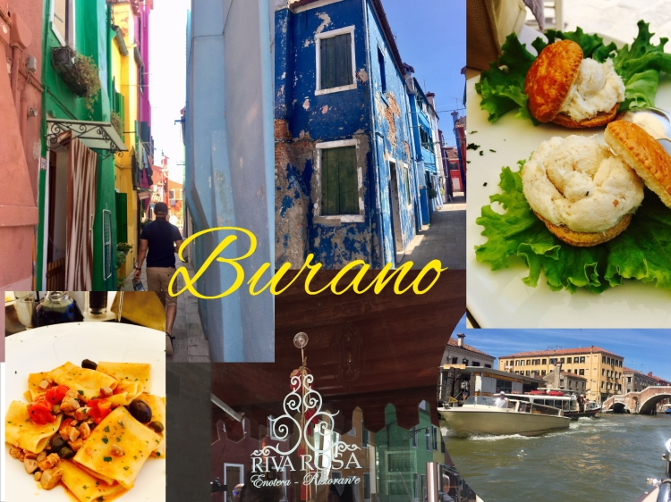 Itlaian food in colourful Burano