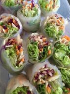 Rice paper veg rolls