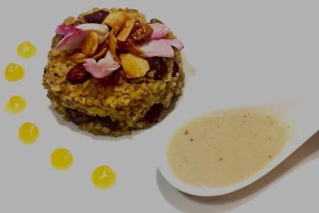 Superfood dessert made from freekeh