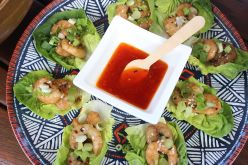 Asian Mainated Prawns and sweet chilli dip