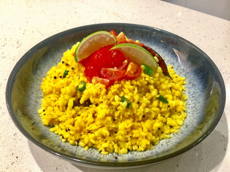 Stir Fried Moong Dal Rice Alternative