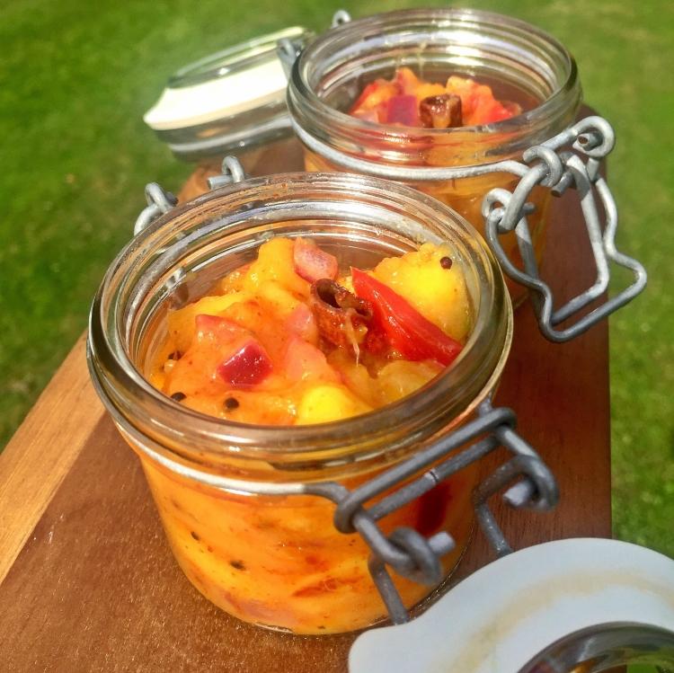 Spicy Mango Relish made from fresh Mango