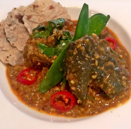 Spicy Stuffed Aubergine Curry