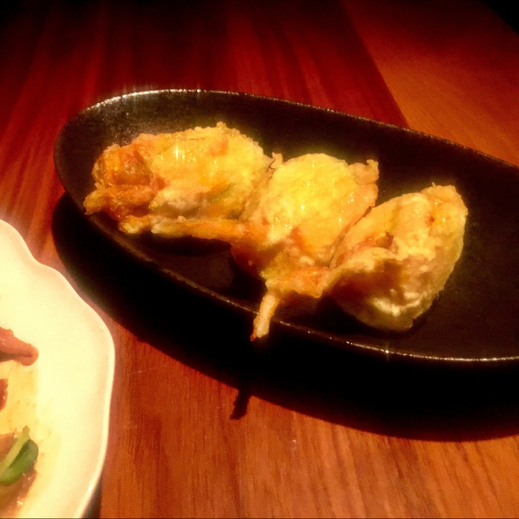Goats Cheese Stuffed Courgette Flowers