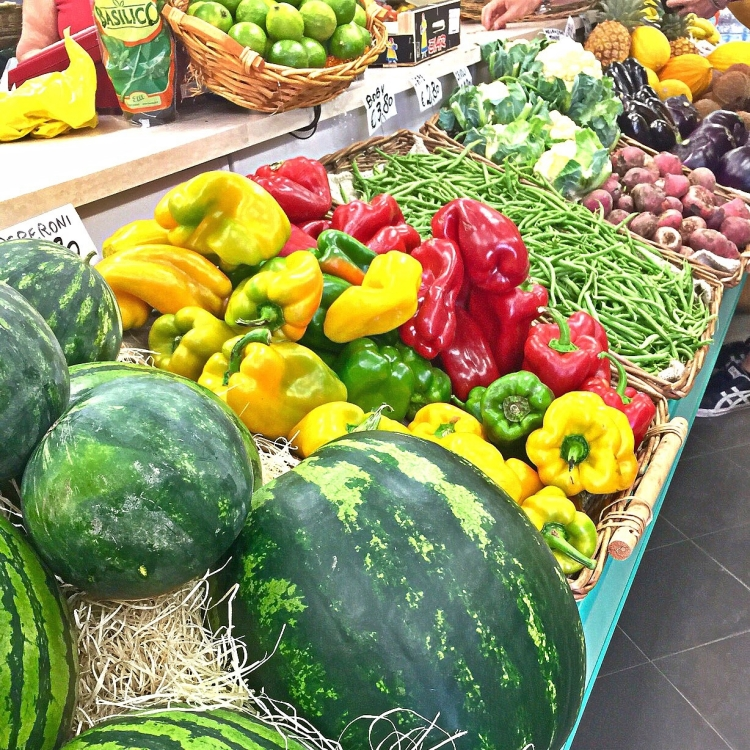 Fresh Summer Fruit and Vegetables in Venice Markets