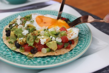 Homemade Mexican Breakfast Tostada